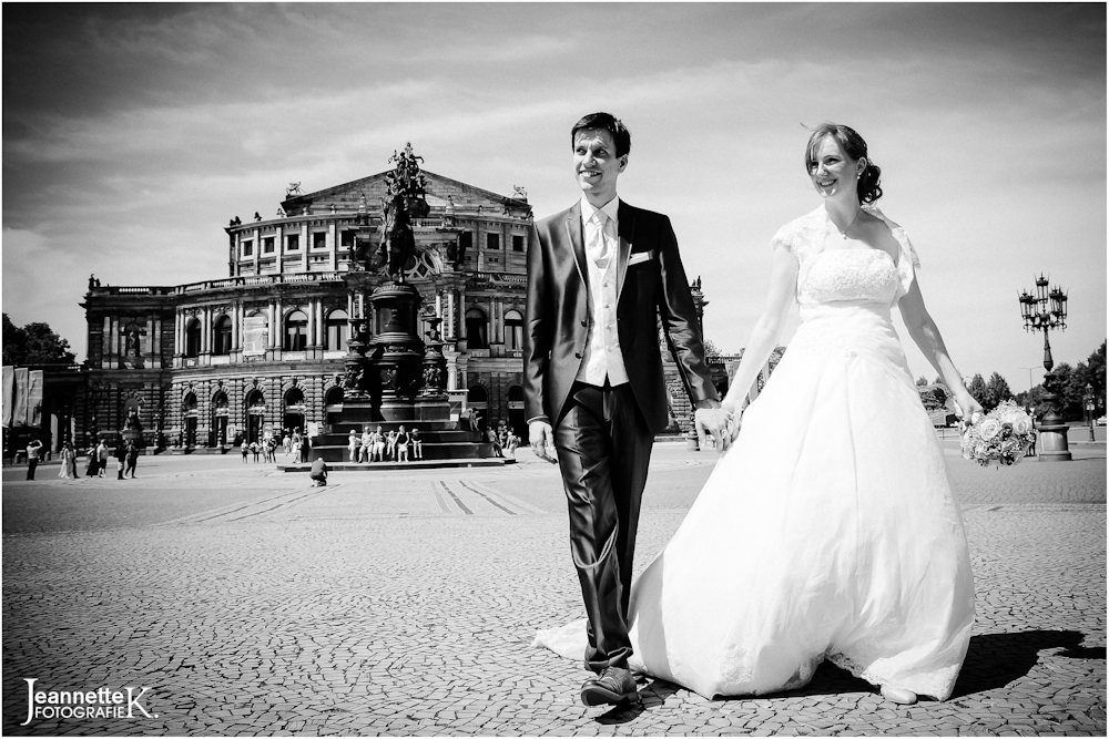 Hochzeitsfotografie Portraitserie Dresdner Altstadt