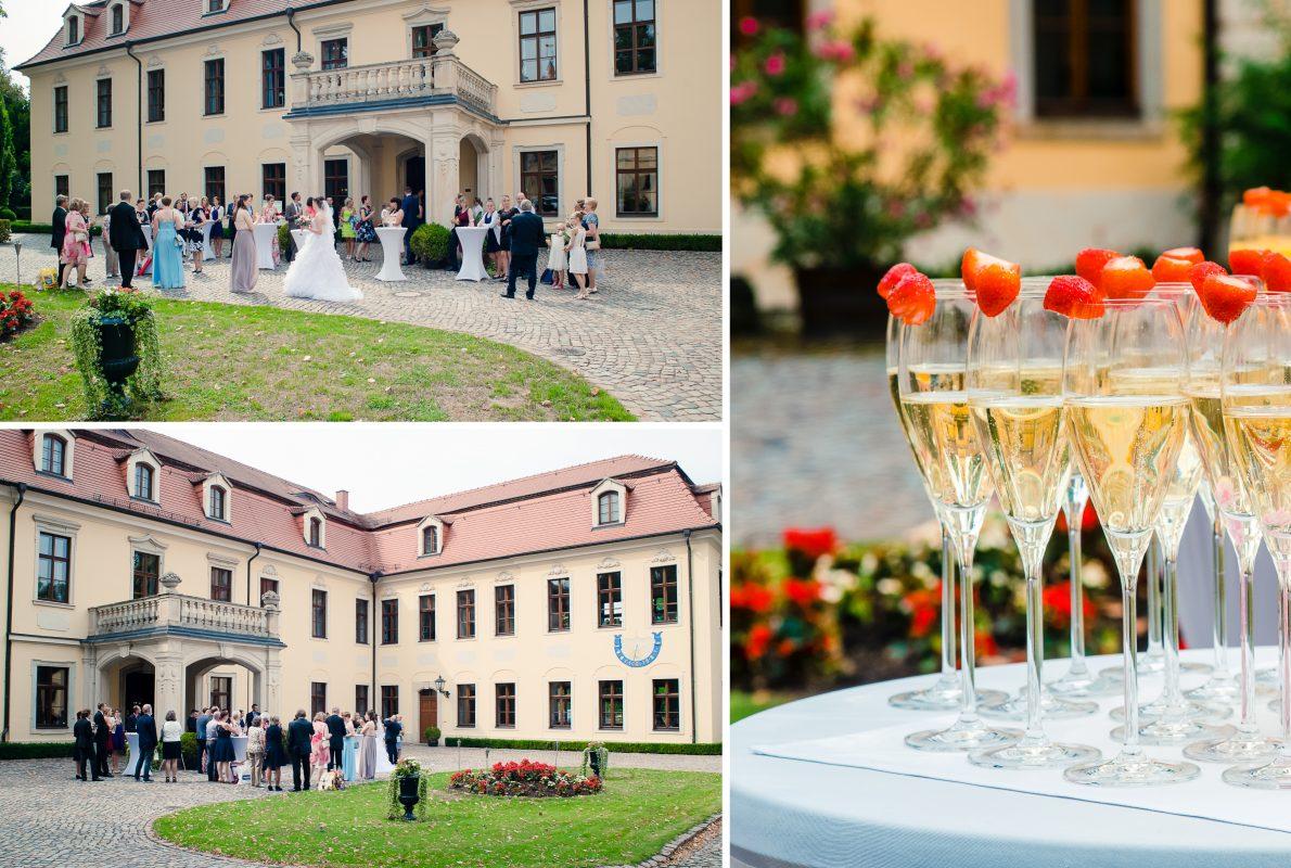 Sektempfang zur Märchenhaften Hochzeitsfeier