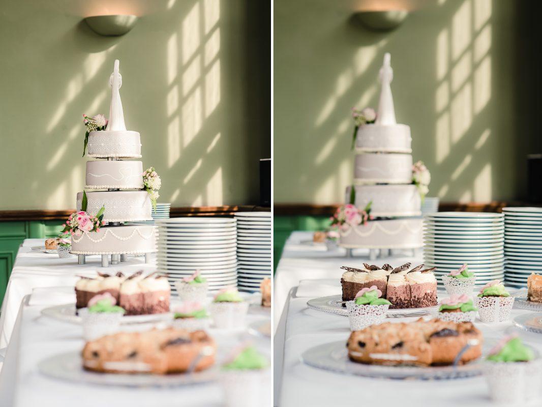 Märchenhafte Hochzeitsfeier mit Kuchenbufett
